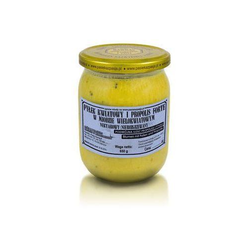 Pasieka z pasją hawran paweł Miód wielokwiatowy z pyłkiem i propolisem forte 650 g