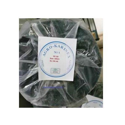 Agrowółknina ściółkujaca PP 50 g/m2 czarna 3,2 x 100 mb. Rolka złozona na 160 cm i wadze 17,3 kg. - sprawdź w Karinex