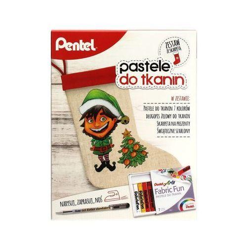 Zestaw pastele + długopis żelowy + skarpeta Pentel, PN6357
