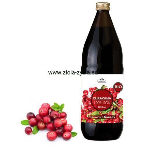 100% sok z żurawiny bio - - pochodzi z ekologicznych upraw marki Dr gaja