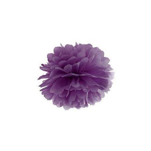 Dekoracja wisząca pompon kwiat - purpurowa - 25 cm - 1 szt.