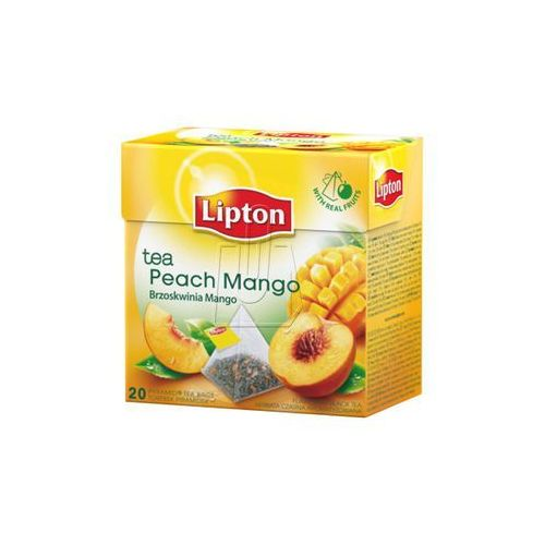 Lipton 20szt mango, brzoskwinia herbata ekspresowa piramidki