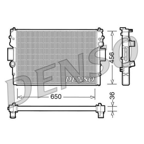 Chłodnica, układ chłodzenia silnika DENSO DRM12007