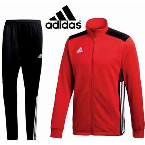 Dres treningowy regista 18 długi zamek czarno-czerowny marki Adidas