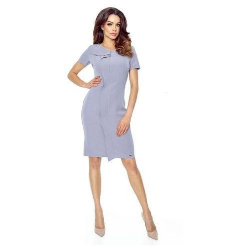 Sukienka z oryginalną a'la zakładką z przodu, w 4 rozmiarach