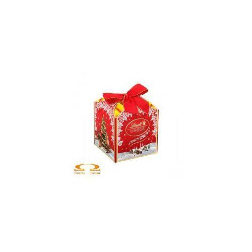 Lindt Bombonierka lindor świąteczne pudełko - kostka 125g