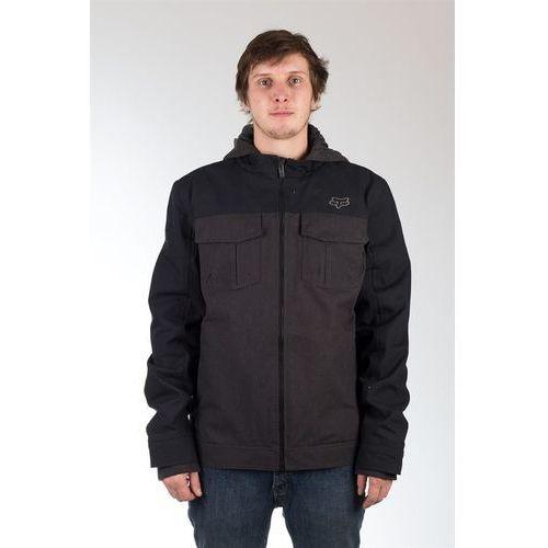 Fox Kurtka - straightaway jacket heather black (243) rozmiar: xl