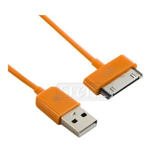 kabel usb 2.0 do ipad / iphone /ipod transfer/ładowanie 1.0m pomarańczowy - 07938-oem od producenta 4world