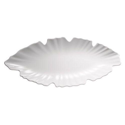 Półmisek z melaminy w kształcie liścia 520x250 mm, biały | APS, Natural Collection