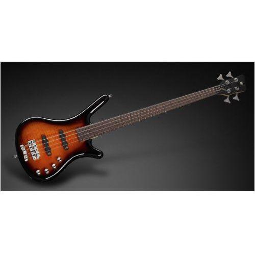 Rockbass corvette classic 4-string, almond sunburst transparent high polish, active, fretted gitara basowa