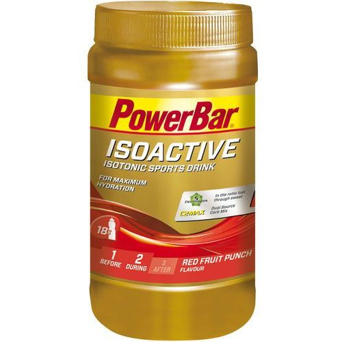 PowerBar Isoactive Isotonic Sports Drink Tub 600g, Red Fruit Punch 2019 Suplementy (4029679671966)
