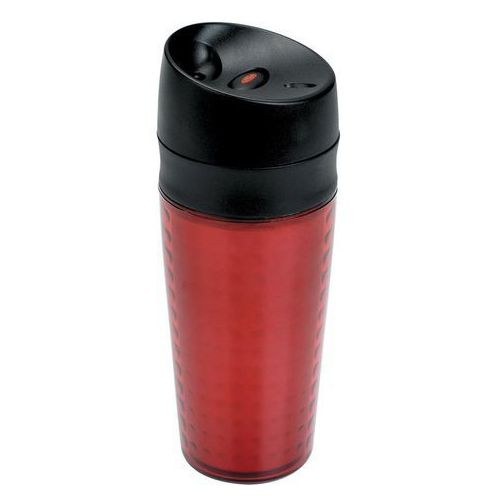 Kubek termiczny Liquiseal 340 ml czerwony, kolor czerwony
