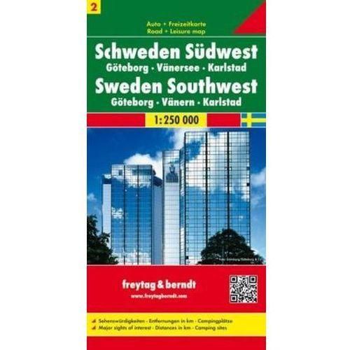 Szwecja cz.2 część południowo-zachodnia Göteborg-Vänersee-Karlstad, 1:250 000 (9783707903195)