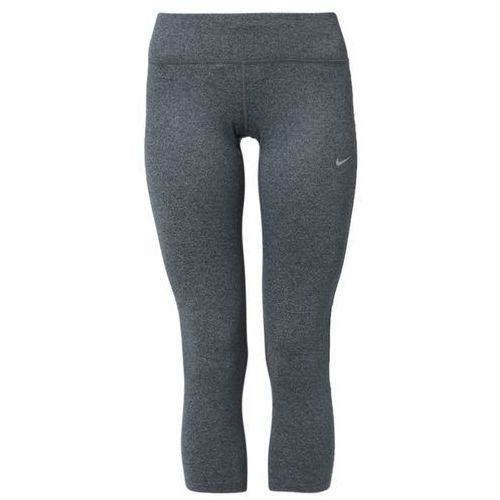 Nike Performance EPIC RUN Legginsy black/cool grey/heather/reflective silver