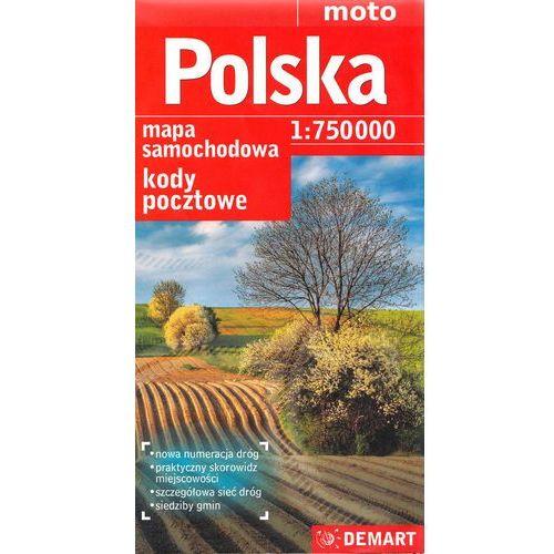 Polska 1:750 000 kody pocztowe mapa drogowa, Demart