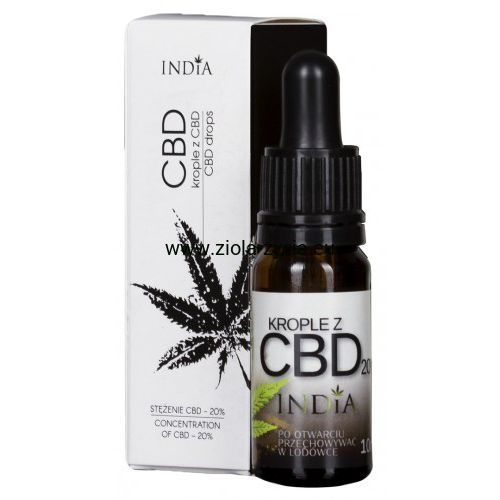 Krople z CBD 20% - India Cosmetics