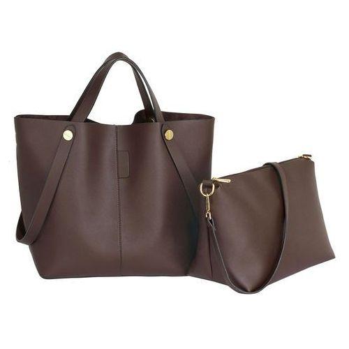 27c9c3db84e46 Czekoladowa torebka damska shopper bag - brązowy