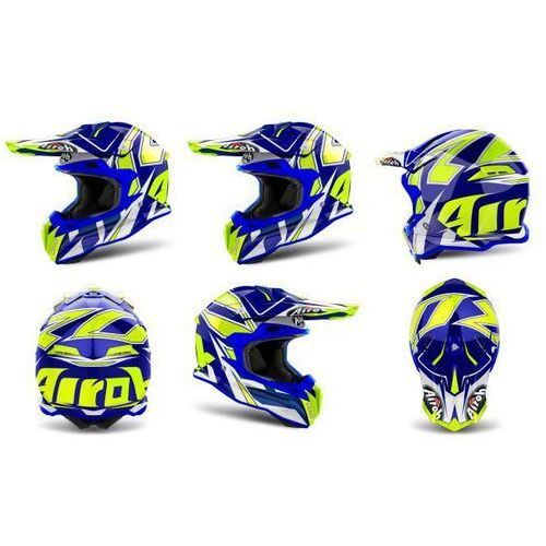 Kask AIROH TERMINATOR OPEN VISION SHOCK BLUE GLOSS