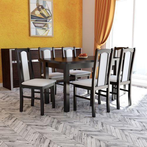 Stół Wenus II XL 80x140 do 220 plus 6 krzeseł BOSS VII (stół do kuchni i jadalni) od Sandow.com