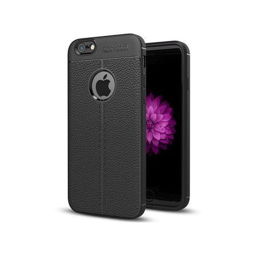 Etui pancerne leather case - iphone 6 6s czarne + szkło marki Alogy