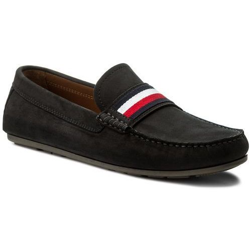 Mokasyny TOMMY HILFIGER - Corporate Tape Loafer FM0FM01247 Midnight 403