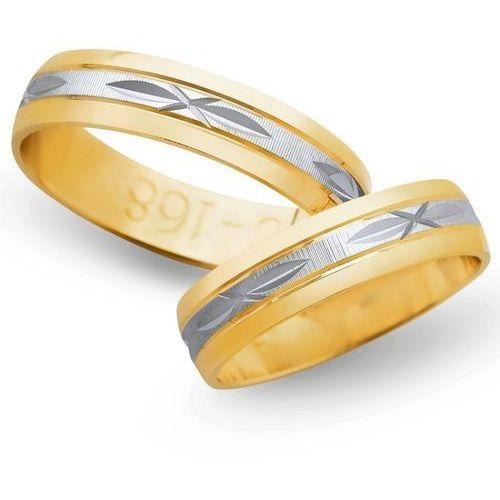 Obrączki z żółtego i białego złota 5mm - O2K/020 - produkt dostępny w Świat Złota