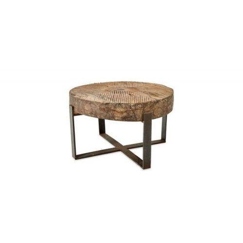 Nkuku - Stolik kawowy z drewnianym blatem Chakala