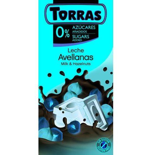Czekolada mleczna z całymi orzechami laskowymi BC 75 TORRAS..