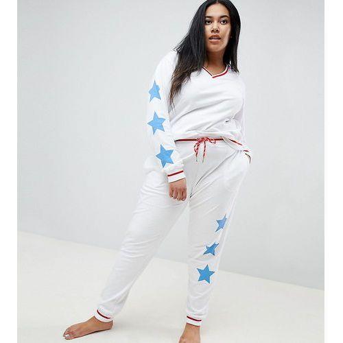 Asos design curve lounge star dorm jogger - white marki Asos curve