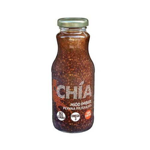 NATURA 250ml Chia Miód Imbir Płynna przekąska z nasionami chia