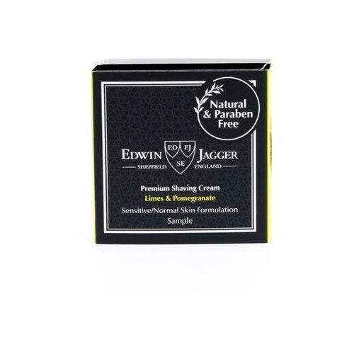 Tester 2w1 kremu do golenia oraz balsamu po goleniu Edwin Jagger LIMONKA i GRANAT (Lime and Pomegranate)