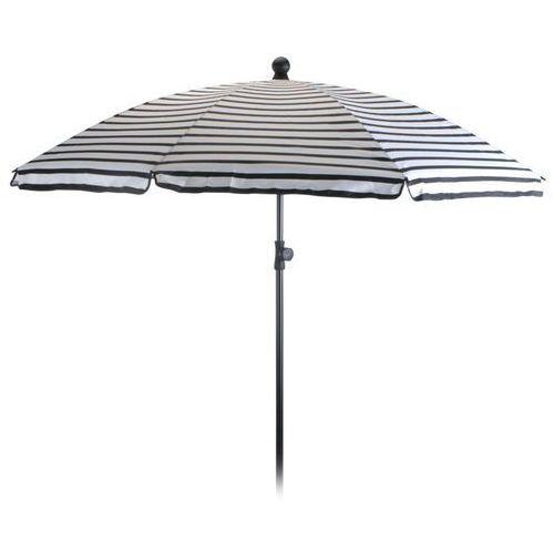 Progarden Parasol ogrodowy 180cm biało-czarny - biało-czarny