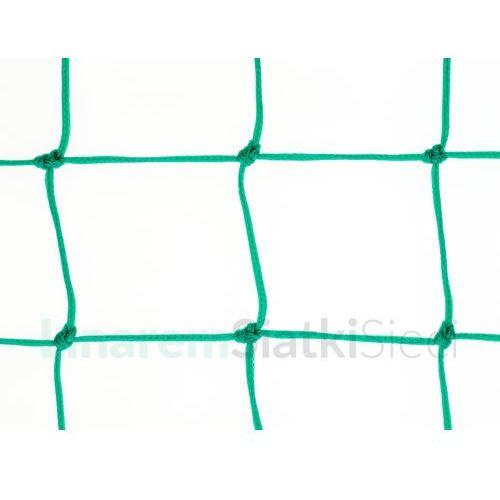 Siatka na ogrodzenia boisk. Piłkołap polietylenowy oko 100mm x 100mm linka Ø 4mm.