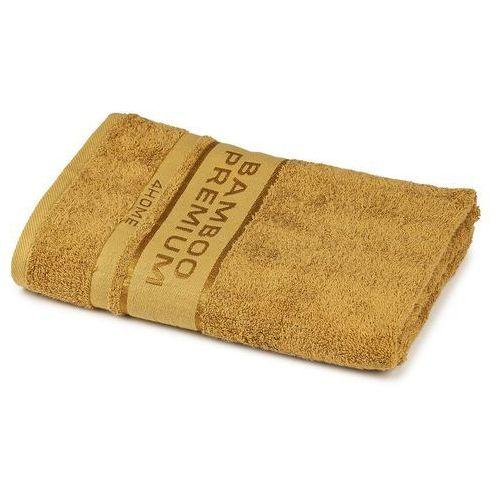 4home ręcznik kąpielowy bamboo premium jasnobrązowy, 70 x 140 cm, 70 x 140 cm