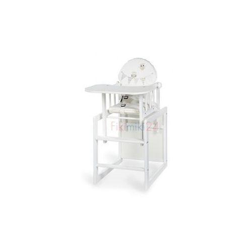 krzesełko agnieszka iii sówki białe marki Klupś