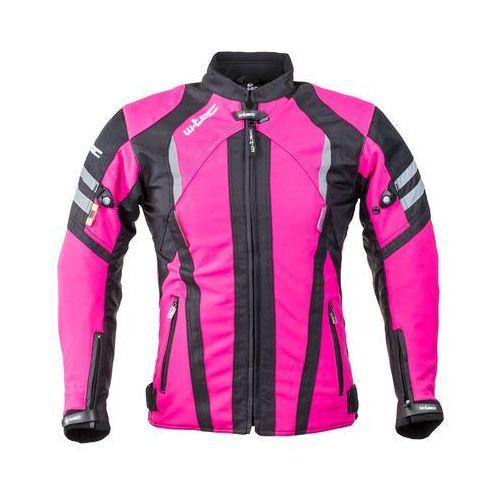 Damska kurtka motocyklowa typu softshell W-TEC Alenalla NF-2410, Czarno-różowy, XL, kolor różowy