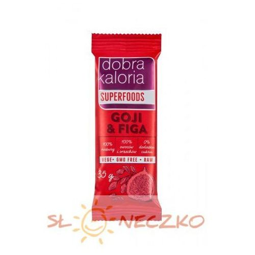 Baton owocowy GOJI & FIGA 35g Dobra Kaloria (5903548002060)