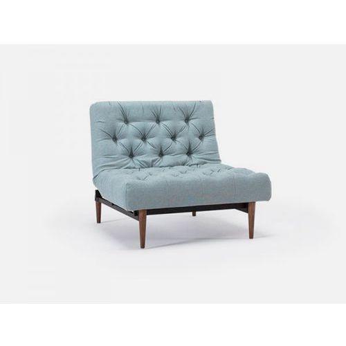 Fotel Oldschool szary 552 nogi ciemne drewno  741019552-741009-3-2, marki INNOVATION iStyle do zakupu w sfmeble.pl