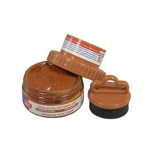 Palc pasta słoik 50 ml jasny brąz, pasta samopołyskowa w kremie z aplikatorem - jasny brąz