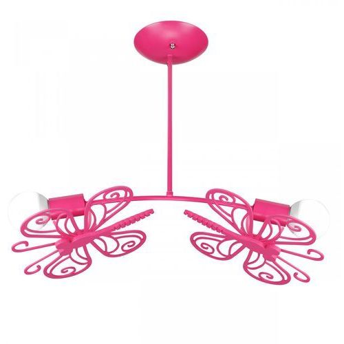 Lampa wisząca motylek lp-14030/2p różowy + darmowy transport! marki Light prestige