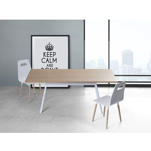 Stół biały - 180 cm - kuchenny - do jadalni - FLOW - produkt dostępny w Beliani