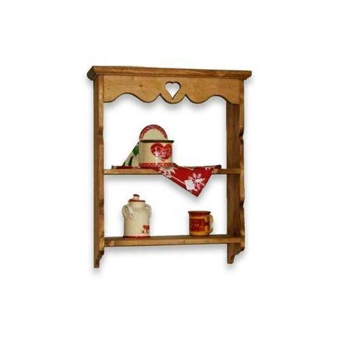 Półka wisząca z drewna świerkowego Mexicana 5 (półka do salonu)
