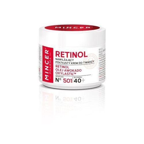 Mincer pharma retinol krem półtłusty-nawilżający 40+ nr 501 50ml - mincer od 24,99zł darmowa dostawa kiosk ruchu (5902557260003)