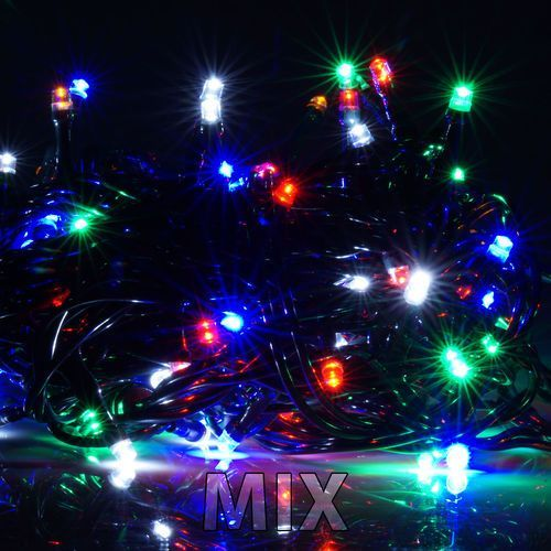 Lampki choinkowe wewnętrzne LED 100 sztuk z dodatkowym gniazdem LW-LED-100G mix/ wielokolorowe