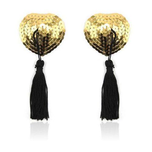 Heart shine nipples tassels (gold)- nasutniki