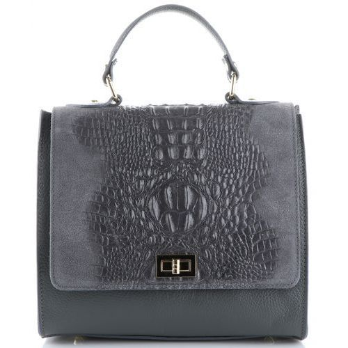7c1a36b325b17 Genuine leather Włoskie torebki skórzane elegancki kuferek wzór aligatora  szary (kolory) 233,75 zł wyjątkowy kuferek damski stworzony z naturalnej  skóry z ...