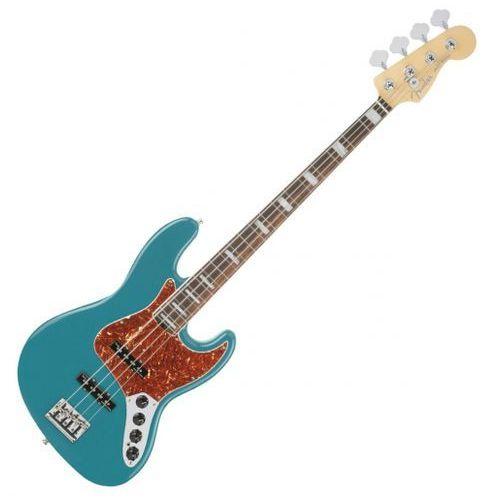 Fender american elite jazz bass ebony fingerboard, ocean turquoise gitara basowa