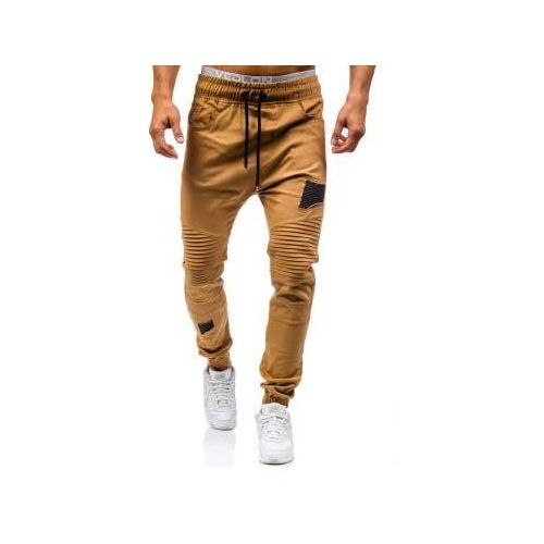 Athletic Spodnie joggery męskie camelowe denley 0829