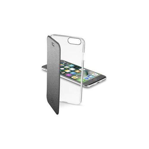 Cellularline Pokrowiec na telefon clear book pro apple iphone 8/7 (clearbookiph747k) czarne