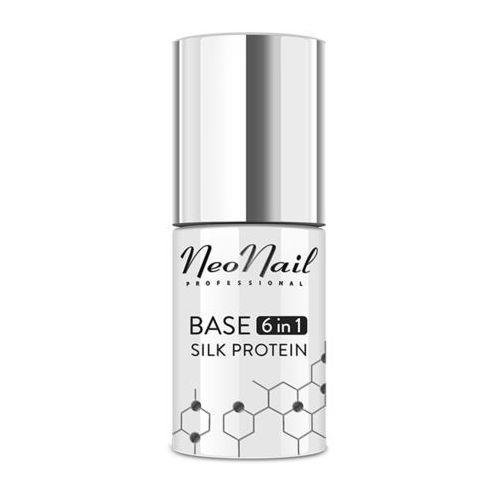 Neonail Nowość! lakier hybrydowy base 6 in 1 silk protein – 7,2 ml